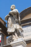 Porta romana. Soriano nel Cimino. Lazio. Italy. Detail of the Porta romana. Soriano nel Cimino. Lazio. Italy Stock Photos