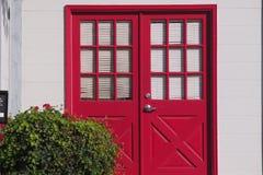 Porta rossa Immagini Stock