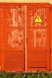 Porta rossa Fotografia Stock Libera da Diritti