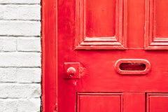 Porta rossa Fotografia Stock