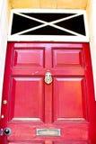Porta rossa Immagine Stock Libera da Diritti