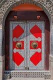 Porta rossa del ferro in Cina Fotografia Stock