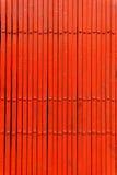 Porta rossa del metallo di ?losed fotografia stock