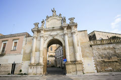Porta Rudiae in Lecce, Apulia, Italy Royalty Free Stock Photo
