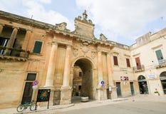 Porta San Biagio in Lecce, Apulia, Italy Stock Image