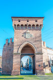 Porta San Felice in Bologna, Italy. Bologna emilia romagna italy city europe street Royalty Free Stock Images