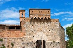 Porta San Giovanni - San Gimignano Itália Imagem de Stock