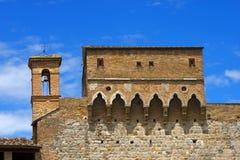 Porta San Giovanni - San Gimignano Italien stockbild