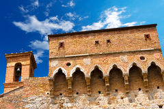Porta San Giovanni, San Gimignano Włochy - Obraz Stock