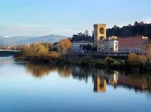 Porta San Niccolo, St Nicholas Gate, Florence, l'Arno, Italie Images libres de droits