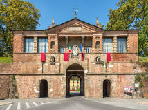 Porta San Pietro in Lucca - Gate to old city Stock Photo