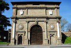 Porta Savonarola in Padua im Venetien (Italien) Stockbild