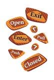 Porta-segni Fotografie Stock Libere da Diritti