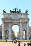 Porta Sempione / Arch of Peace in Milan Royalty Free Stock Photos