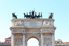 Porta Sempione / Arch of Peace in Milan Stock Photography