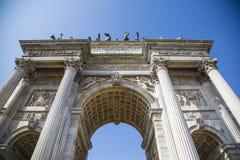 Porta Sempione in Milan Royalty Free Stock Image