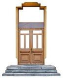 Porta semplice moderna della quercia Fotografia Stock Libera da Diritti