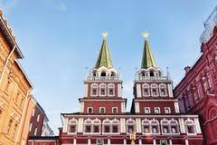 Porta Siberian - Kremlin - quadrado vermelho - Moscou Fotos de Stock