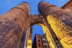 Porta Soprana in Genoa Royalty Free Stock Photography