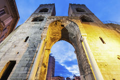 Porta Soprana in Genoa Royalty Free Stock Photos