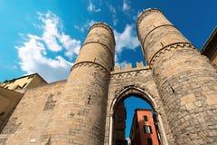 Porta Soprana - Genova Italia fotografia stock libera da diritti