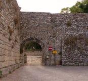 Porta Spada, Erice Arkivfoto