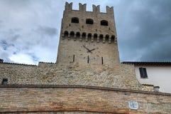 Porta St. Agostino. Montefalco. Umbria. Perspective of the Porta St. Agostino. Montefalco. Umbria Stock Photos