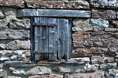 Porta stagionata Fotografia Stock