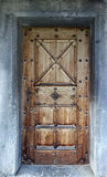 Porta suíça velha da igreja Fotografia de Stock