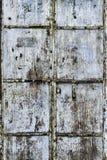 Porta suja corroída do metal Fotos de Stock