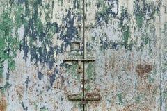Porta suja do metal Fotos de Stock