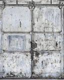 Porta suja do metal Imagem de Stock Royalty Free