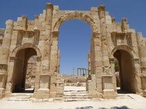 Porta sul (Jerash), Jordânia Imagens de Stock