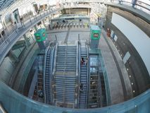Porta Susa station travellers in Turin Royalty Free Stock Photo