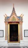 Porta Tailândia da igreja do budismo Fotografia de Stock