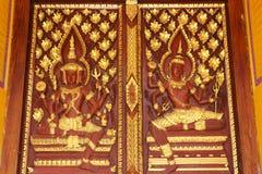 Porta tailandesa do templo Imagens de Stock