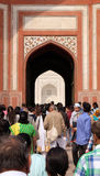 Porta a Taj Mahal em Agra foto de stock royalty free