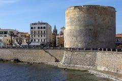 Porta Terra Tower - een Alghero - Sardinige - Italië Royalty-vrije Stock Foto