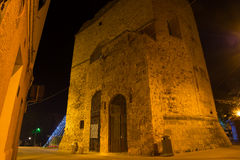 Porta Terra tower by night Stock Images