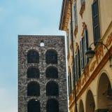 Porta Torre in Como, fine sulla vista Immagini Stock