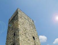 Porta Torre in Como, fine sulla vista Fotografia Stock Libera da Diritti