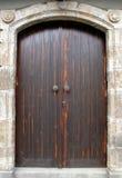 Porta tradicional de madeira foto de stock