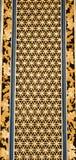 Porta tradizionale cinese dorata in tempio cinese Fotografie Stock Libere da Diritti