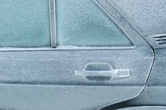 Porta traseira congelada fechada imagens de stock