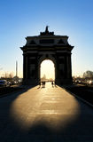 Porta triunfal de Moscou Foto de Stock Royalty Free