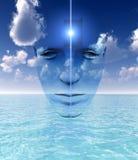 A porta a uma mente aberta Imagem de Stock