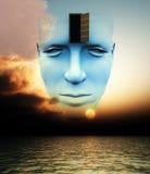 A porta a uma mente aberta ilustração do vetor