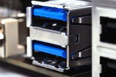 Porta USB Fotografia Stock