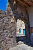 Porta Vecchia. Torre Alfina. Il Lazio. L'Italia. Fotografia Stock