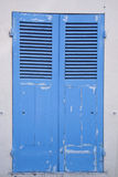 Porta velha azul Fotografia de Stock